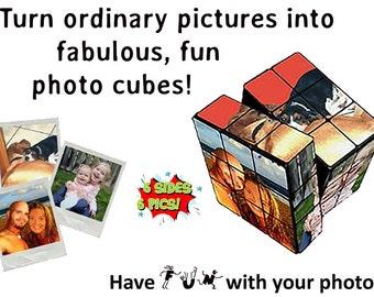 Custom Photo Puzzle Cube  - Standard Shipping