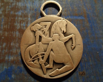 Swiss médaille Guillaume Tell/Heavy metal/Collector/ 4 cm/ Gift for HIM!