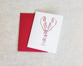 You're My Lobster - FRIENDS Inspired Love/Anniversary Red Foil Greeting Card