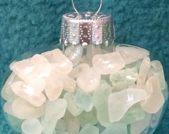Sea Glass Heart Ornament