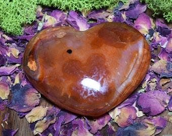 Carnelian Puffy Heart