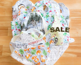Sale items, Set of 15, Baby Gifts, Burpcloths, Bandana bibs, Classic bibs, Baby Shower, Gift pack