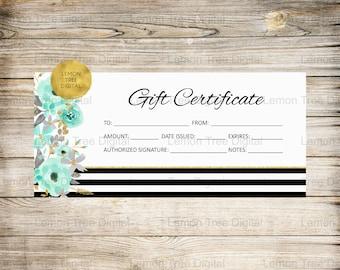Lips gift certificate, lips gift certificates, lips certificate, gift certificates, black, white, mint, gold, floral,