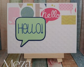 "Handmade ""Hello"" Note Card"
