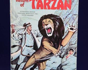 The Return of Tarzan Edgar Rice Burroughs, Whitman Publishing, Jungle Book, The Return of Tarzan, Adventure Book, Cartoon Books