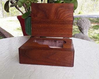 Soild Wood Small Hand Gun Storage Box Handmade