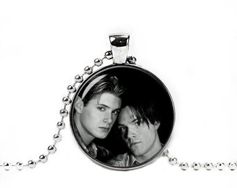 Winchester Brothers Supernatural Necklace Dean and Sam Jensen Ackles Jared Padalecki Fangirl Fanboy