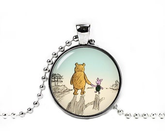 Winnie the Pooh Necklace Pendant Winnie Pooh and Piglet Classic Winnie the Pooh Jewelry