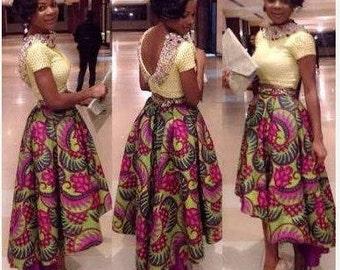 High-Low Ankara Skirt