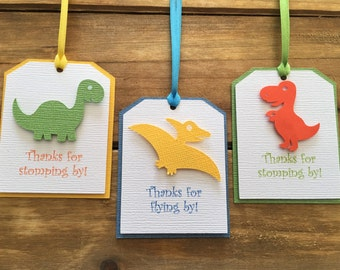 12 Dinosaur Tags, Dinosaur Favor Tags, Dinosaur Thank You Tag, dinosaur party decoration, T Rex Party, Dinosaur Birthday, Baby Shower