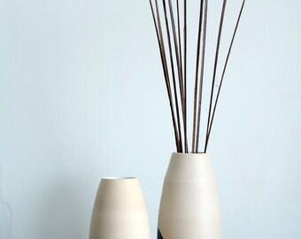 Vase Set, Black Vase, Vase, Hand Made Vase, Flower Vase, Wheel Thrown Vase, White Vase, Orange Vase, Sunset Vase, Pottery Vase,