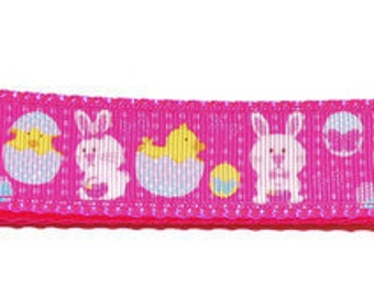 Large Easter Bunny & Chick Adjustable Dog Collar