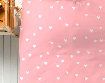 Heart Duvet, Pink Duvet Cover, Queen Duvet, King Duvet, Twin Duvet, Simple Bedding, Minimal Bedroom Decor, Minimal Duvet Cover, Cute Bedding