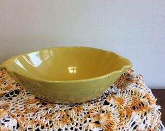 "Frankoma Yellow 9 3/4"" Serving Bowl"