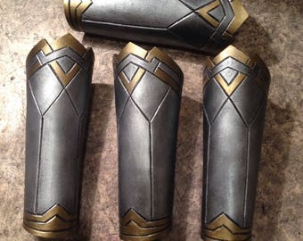 MADE TO ORDER Wonder Woman Costume Cosplay  Bracer Armor Female Bracelet Gauntlets Dawn Of Justice Costume