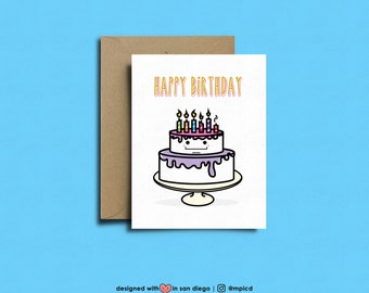 Happy Birthday!  | birthday cake, cute birthday card, Funny Birthday Card