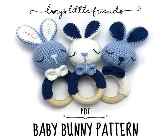 Baby Bunny Amigurumi Pattern : Baby Bunny Rattle Crochet Pattern Amigurumi PDF from ...