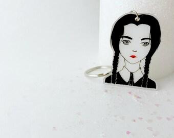 Wednesday Addams Key Chain / Pin