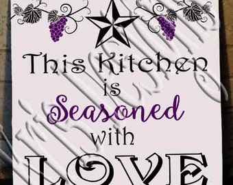 This Kitchen is Seasoned with Love SVG PNG JPG