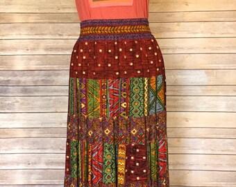 Aztec Skirt | Maxi Skirt | 80's Skirt | Boho Skirt | Summer Skirt | Women's Maxi Skirt | Maxi Skirt Boho | Ethnic Skirt | Festival Skirt