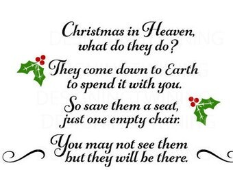 Christmas in Heaven SVG PNG DXF digital file