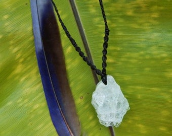 Aquamarine Macrame Necklace