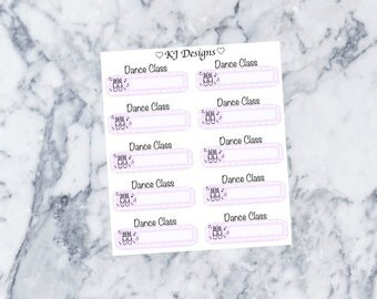 Dance Class Stickers || 10 Planner Stickers