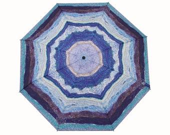 Rain or Shine Ocean Waves Knit Design Umbrella - Great Birthday gift