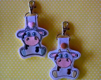 Cow Keychain/Snap Tab