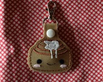 Cinnamon Roll Keychain