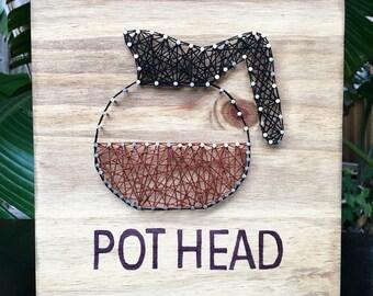 "Coffee ""Pot Head"" String Art"