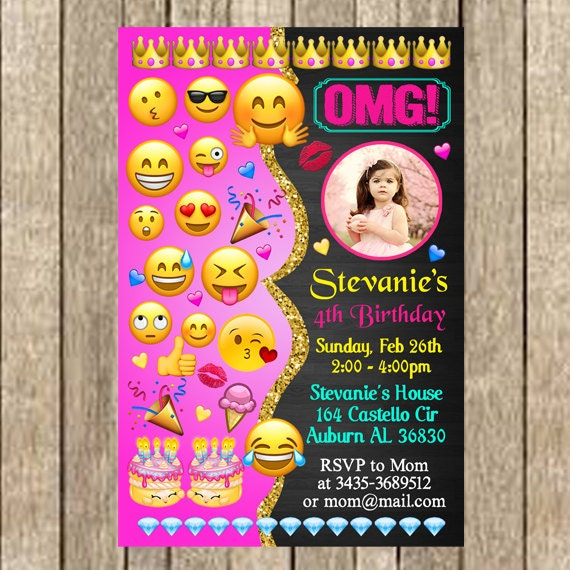 Emoji Party Invitations Printable