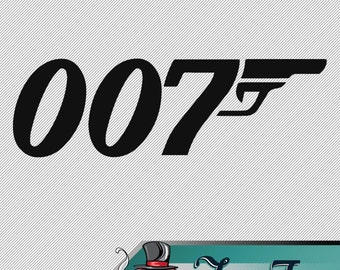 Vinyl Decal- James Bond 007 Logo