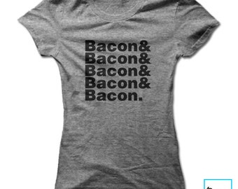 Bacon & Bacon | Bacon Lover | Foodie Shirt | Funny Bacon Shirt | Foodie Gift | Food Lover | Funny Gifts | Funny Food Shirt | Womens T-sh