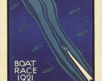 1921 Oxford Cambridge University Boat Race Poster  A3/A2/A1 Print