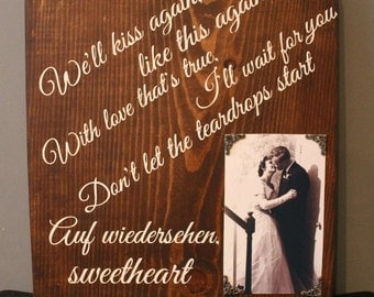 Song Lyric Sign with Photo