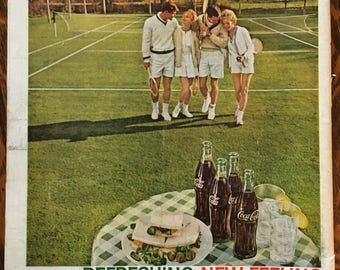 Coca Cola Tennis ad from 1962 LIFE magazine