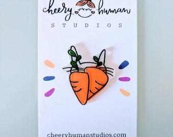 Handmade Carrot Pin