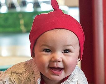 Valentine's Beanie - Top Knot Hat- Baby Beanie