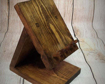 Tablet Docking Station - Reclaimed wood - ipad - galaxy - android  - desktop - Birthday present - christmas present - geek - Anniversary