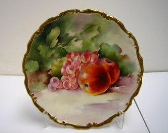 Hand painted Worcester fruit plate