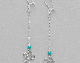 Earrings Turquoise and Silver