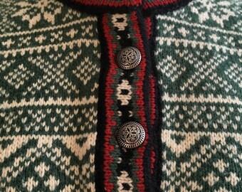Vintage LL Bean Nordic Style Ski Sweater
