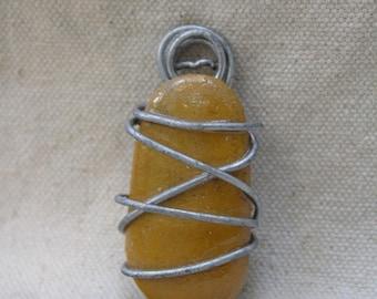 Handmade Yellow Stone Pendant