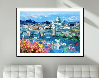 Rome Italy Art Prints Abstract Art Landscape Prints Canvas Art Cityscape Wall Art Home Decor Christmas Gifts Ideas Travel Gifts for Couples