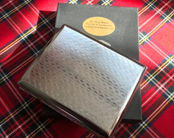 A New Beautiful Silver Cigarette Case That's Engraved On Both Sides