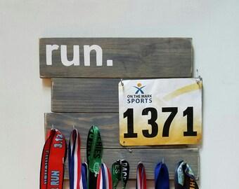 Rustic Running Medal Holder Display