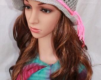 Summer woven gray crochet openwork CAP, hat Cap summer woman, complement Beach, hat summer girl, summer hat, Sun Hat