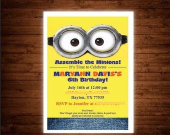 Minions Birthday Invite