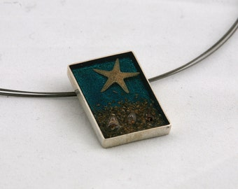 inlay silver pendant